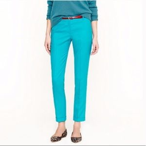 J. Crew Wool Cafe Capri Cropped Pants turquoise- 4